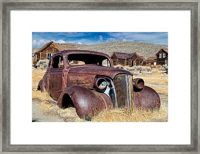 1937 Chevrolet Coupe At Bodie Framed Print