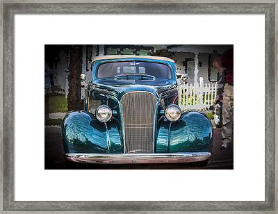 1937 Chevrolet Custom Convertible Framed Print