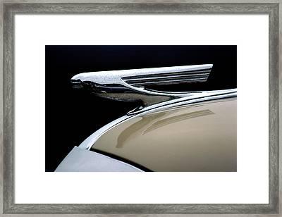 1937 Chevrolet Hood Ornament Framed Print