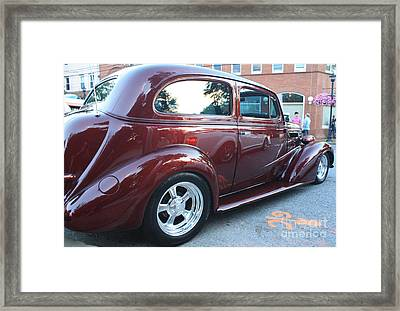 1937 Chevy Two Door Sedan Rear And Side View Framed Print by John Telfer
