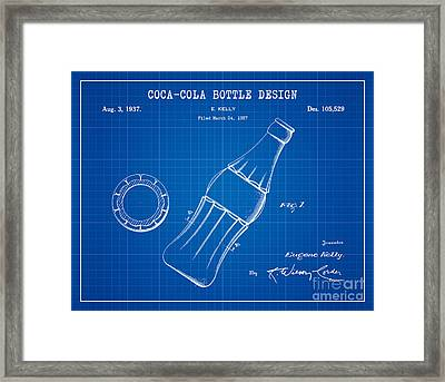 1937 Coca Cola Bottle Design Patent Art 2 Framed Print