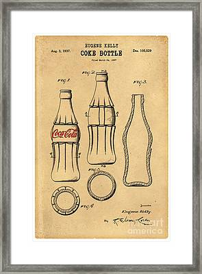1937 Coca Cola Bottle Design Patent Art 5 Framed Print