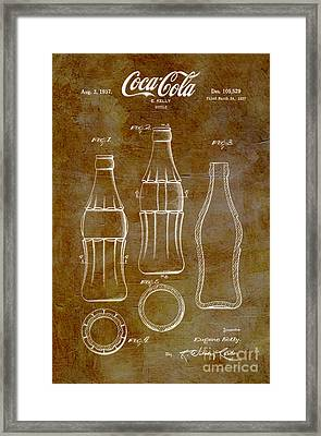 1937 Coca Cola Bottle Design Patent Art 6 Framed Print