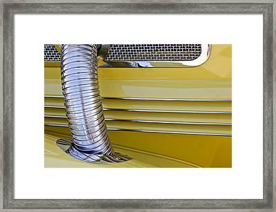 1937 Cord 812 Phaeton Hood Fender Framed Print by Jill Reger