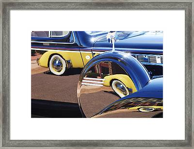 1937 Cord 812 Phaeton Reflected Into Packard Framed Print
