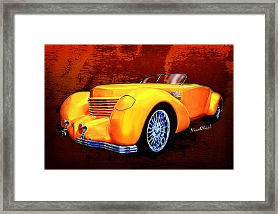 1937 Cord Coffin Nose Speedster Concours On Toast Framed Print