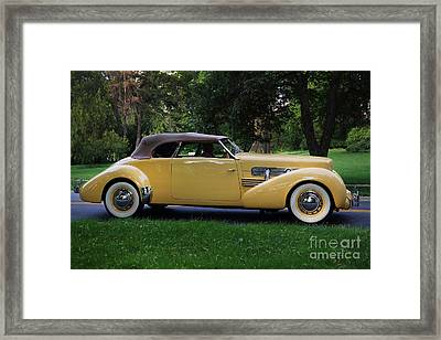 1937 Cord Convertible Framed Print