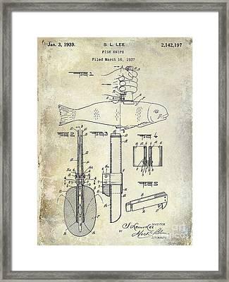 1937 Fishing Knife Patent Framed Print by Jon Neidert