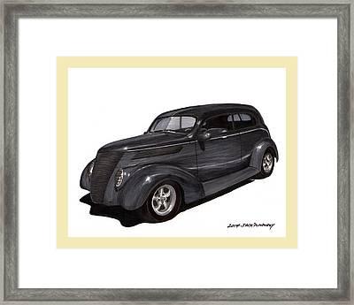 1937 Ford 2 Door Street Rod Framed Print