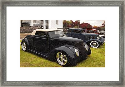 1937 Ford And 1932 Pontiac Framed Print by L Wright
