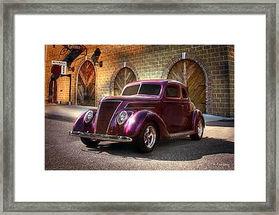 1937 Ford Framed Print by Andrea Kelley