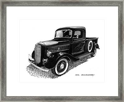Ford Pick Up Truck Framed Print by Jack Pumphrey