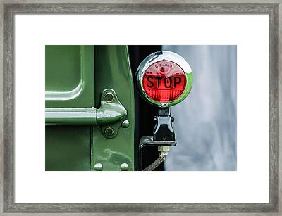1937 Ford Pickup Truck Taillight Framed Print