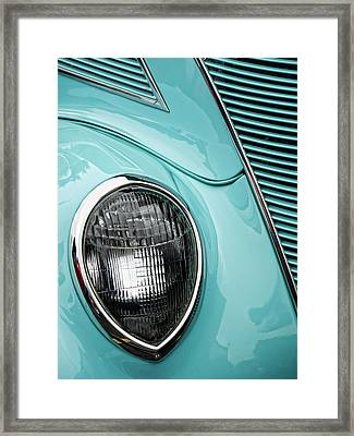 1937 Ford Sedan Slantback Framed Print by Carol Leigh