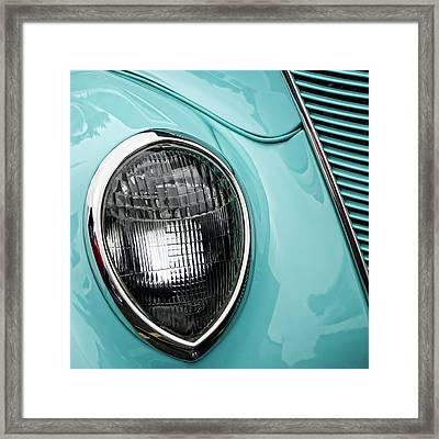 1937 Ford Sedan Slantback Square Framed Print by Carol Leigh