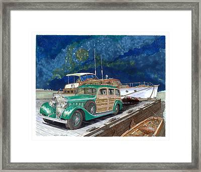 Varnished Thunder Framed Print