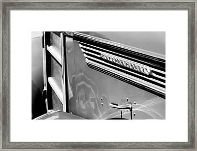 1937 International D-2 Station Wagon Side Emblem Framed Print by Jill Reger