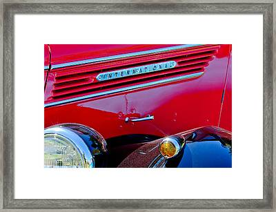 1937 International D2 Pickup Truck Side Emblem Framed Print