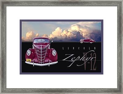 1937 Lincoln Zephyr Framed Print by Ed Dooley