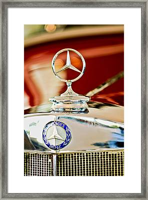 1937 Mercedes-benz Cabriolet Hood Ornament Framed Print by Jill Reger