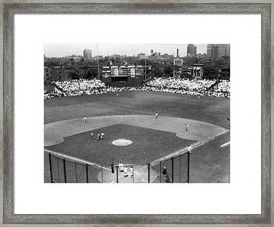 1937 Opening Day At Wrigley Field Framed Print by Retro Images Archive