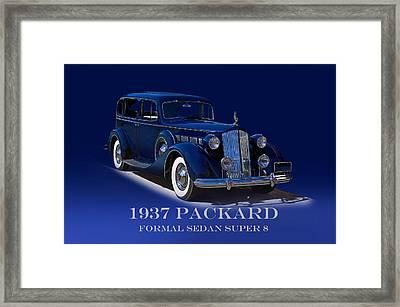 1937 Packard Formal Sedan Super 8 Framed Print by Dave Koontz