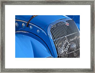 1937 Peugeot 402 Darl'mat Legere Special Sport Roadster Recreation Grille Emblem Framed Print