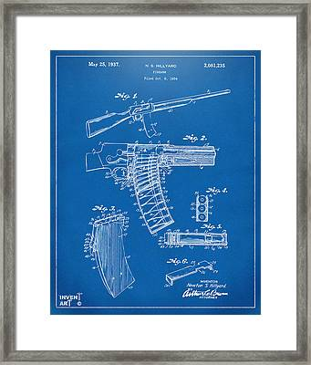 1937 Police Remington Model 8 Magazine Patent Artwork - Blueprin Framed Print