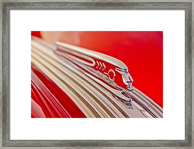 1937 Pontiac Chief Custom Hood Ornament Framed Print by Jill Reger