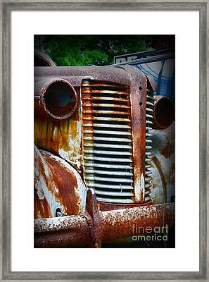 1937 Rusty Buick Framed Print