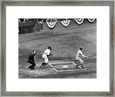 1937 World Series Action Framed Print by Underwood Archives