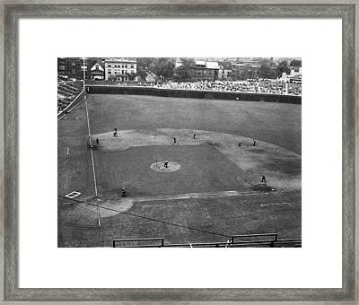 1937 Wrigley Field Scoreboard Framed Print by Retro Images Archive