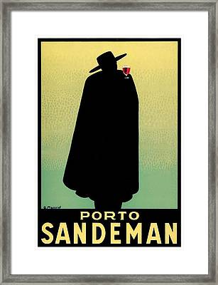 1938 - Porto Sandeman French Wines Advertisement Poster - Color Framed Print