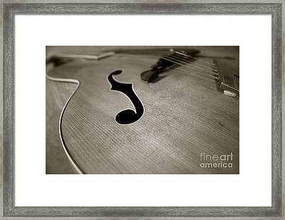 1938 Acoustic Archtop Framed Print