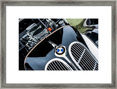 1938 Bmw 327-8 Cabriolet Grille Emblem - Engine Framed Print