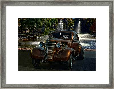 1938 Chevrolet Coupe Street Dragster Framed Print