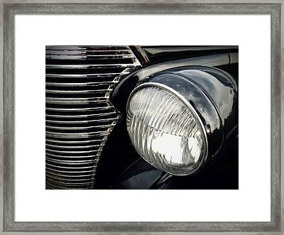 Framed Print featuring the photograph 1938 Chevrolet Deluxe Sedan by Joseph Skompski