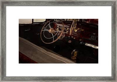 1938 Chevrolet Interior Framed Print