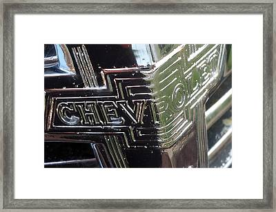 1938 Chevrolet Sedan Emblem Framed Print