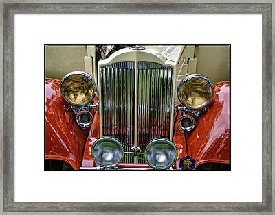 Framed Print featuring the photograph 1928 Classic Packard 443 Roadster by Thom Zehrfeld
