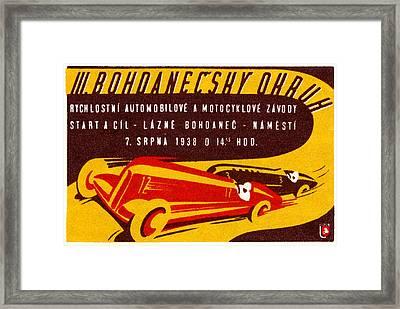 1938 Czech Motor Racing Framed Print