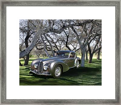 1938 Delahaye 145 Coupe At Tubac Resort Framed Print