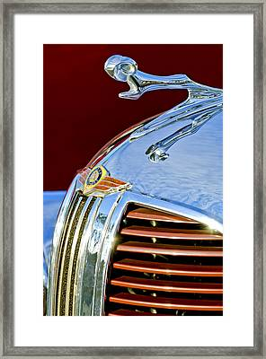 1938 Dodge Ram Hood Ornament 3 Framed Print