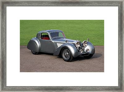 1938 Jaguar Ss100 Fhc Grey Lady Fixed Framed Print by Panoramic Images