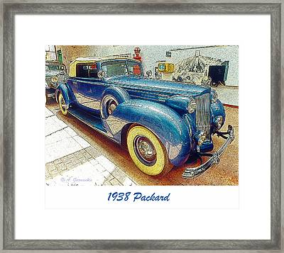 1938 Packard National Automobile Museum Reno Nevada Framed Print by A Gurmankin
