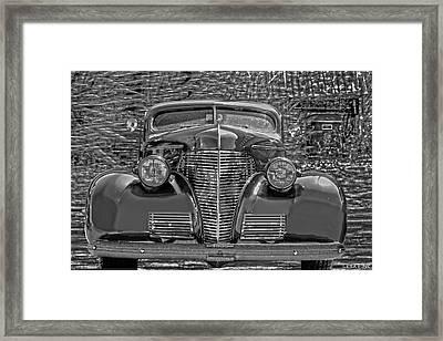 1939 Chevy Immenent Front Bw Art Framed Print