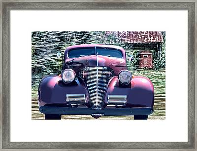 1939 Chevy Immenent Front Original Framed Print by Lesa Fine