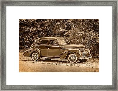 Classic - Car - 1939 Chrysler 4-dr Sedan Framed Print by Barry Jones