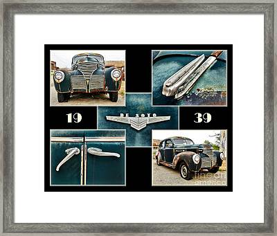 1939 De Soto Collage Framed Print by Pattie Calfy