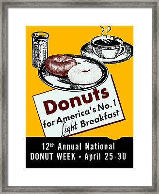 1939 Donut Poster Framed Print by Historic Image
